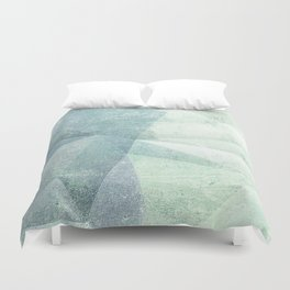 Frozen Geometry - Teal & Turquoise Duvet Cover