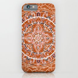 Detailed Burnt Orange Mandala iPhone Case