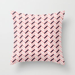 Chevron - Rose Throw Pillow