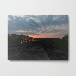 Italy: Matera - Sunset  Metal Print