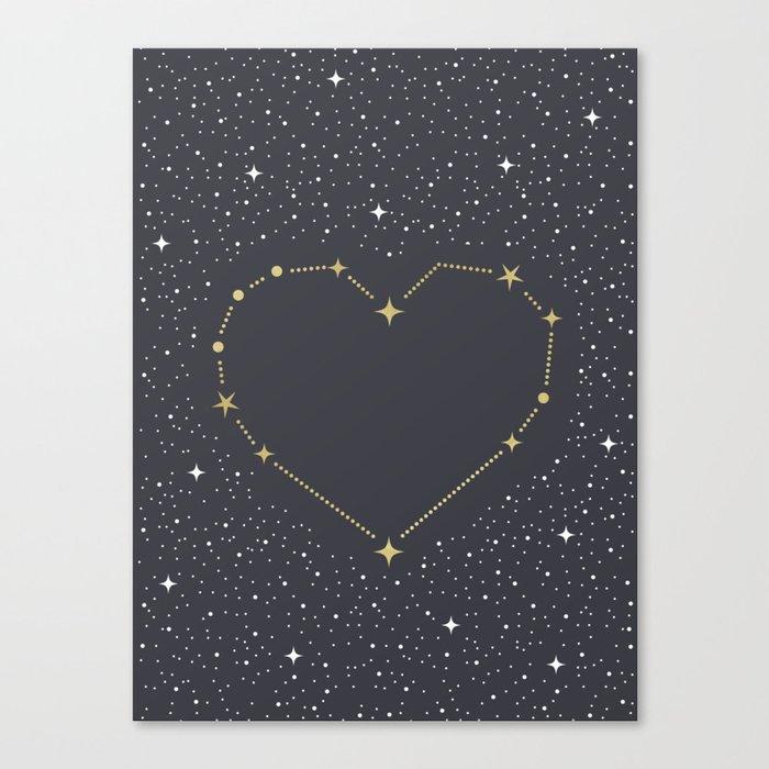 Heart Constellation Leinwanddruck