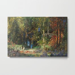 Garden Romance by Thomas Mostyn Metal Print