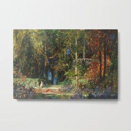 Italian Garden Romance, Tivoli floral landscape painting by Thomas Mostyn Metal Print