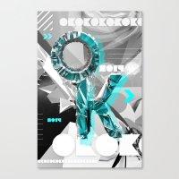 kim sy ok Canvas Prints featuring OK by Andre Villanueva