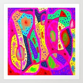Dotty potty doodles Art Print