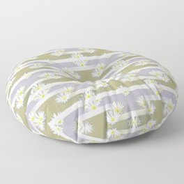 Mix of formal and modern with anemones and stripes 4 Floor Pillow