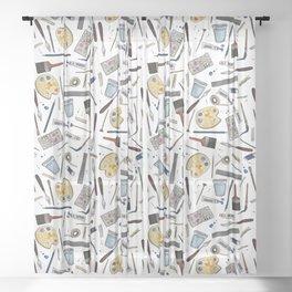 Painter's Supplies - Clear Sheer Curtain