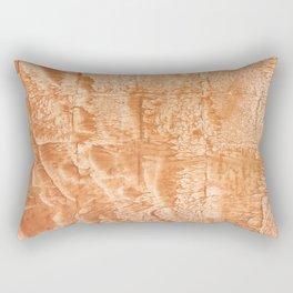 Peach nebulous watercolor Rectangular Pillow