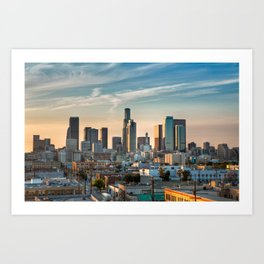 LA Skyline Art Print