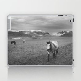 Western Photograph | Rustic Horse and Mountains Laptop & iPad Skin