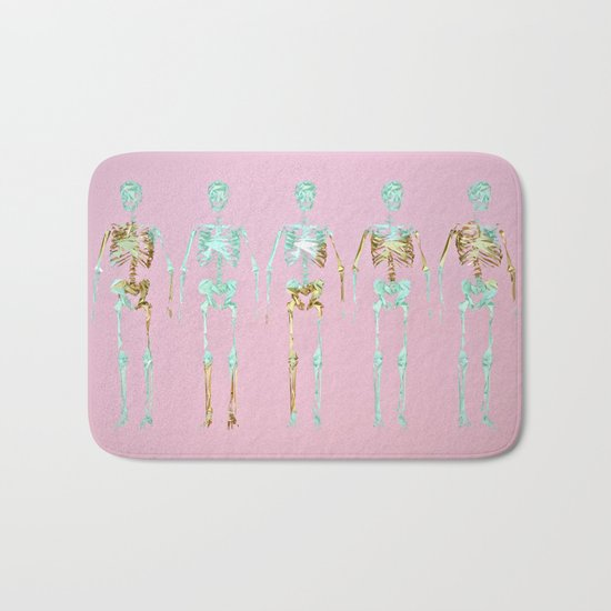 Spooky Skeletons Bath Mat