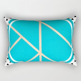 Leaf - small triangle graphic Rectangular Pillow