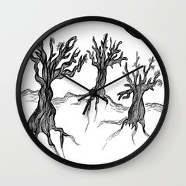 Olive Trees Wall Clock
