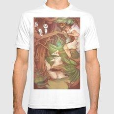 Princess Mononoke White SMALL Mens Fitted Tee