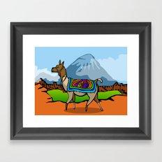 Lofty Llama Framed Art Print