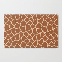 Giraffe skin print Canvas Print