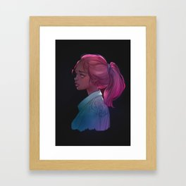 Jean jacket Framed Art Print