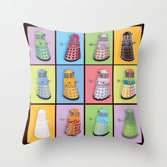 Dalek dreams throw pillow by megs stuff society6 for Dream home season 6