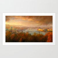 View of Budapest Art Print