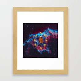 Cat Bacon and Taco Space Framed Art Print