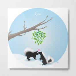 Mistletoe (gui) Metal Print