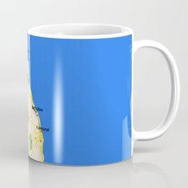 Sri Lanka Map Design Coffee Mug