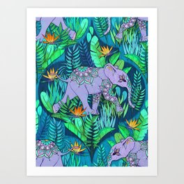 Little Elephant on a Jungle Adventure Art Print