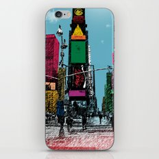 times square iPhone & iPod Skin