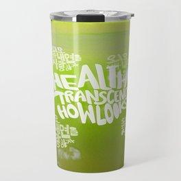 Health Transcends – Lime Travel Mug