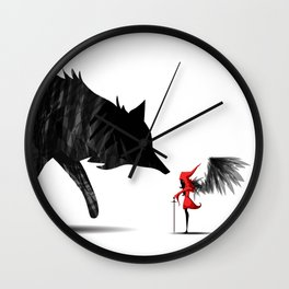 Little Red and the Big Bad Wolf Wall Clock