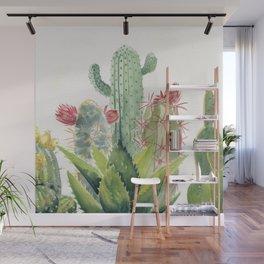 Cactus Watercolor Wall Mural