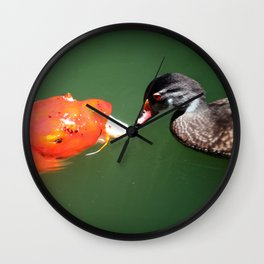 Don't Play Coy with Me Wall Clock