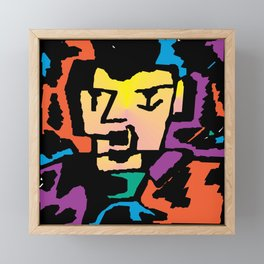 The Face Framed Mini Art Print