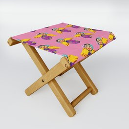Mexican Angels Hot Pink Folding Stool