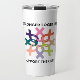 Stronger Together Support The Cure Travel Mug