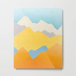 Happy Mountains Metal Print