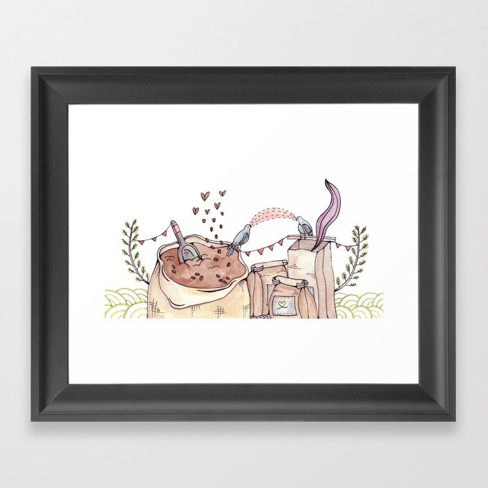 Coffee Page Framed Art Print