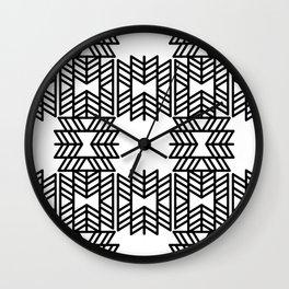 Z Pattern Wall Clock