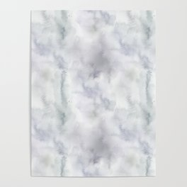Abstract modern gray lavender watercolor pattern Poster
