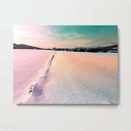 The field and the village Metal Print
