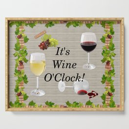It's Wine O'Clock Serving Tray