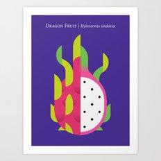 Fruit: Dragon Fruit Art Print