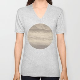 Abstract Pink Clouds Unisex V-Neck