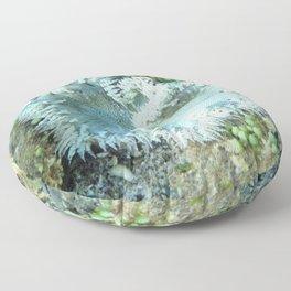 Watercolor Sealife, Beaded Anemone 01, St John, USVI Floor Pillow