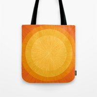pulp Tote Bags featuring Pulp Saffron by Anchobee