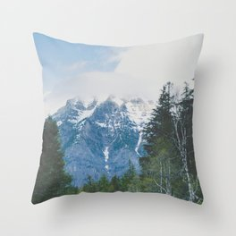 Glacier Roads Throw Pillow