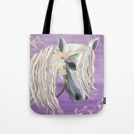 Pretty Horse Painting Tote Bag
