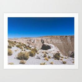 Over the Edges of the Atacama Desert, Bolivia Art Print