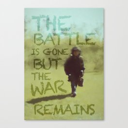 The War Remains - painting by Brian Vegas Canvas Print
