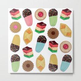 Assorted Cookie Pattern Metal Print